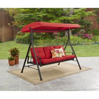 Mainstays Belden Park 3-Person Canopy Porch Swing Bed Deals
