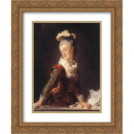 Jean Honore Fragonard 2X Matted 20X24 Gold Ornate Framed Art Print Mariemadeleine Guimard  Dancer