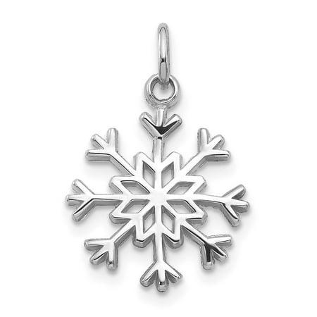 14k White Gold Snowflake Charm - Measures 16x14mm ()