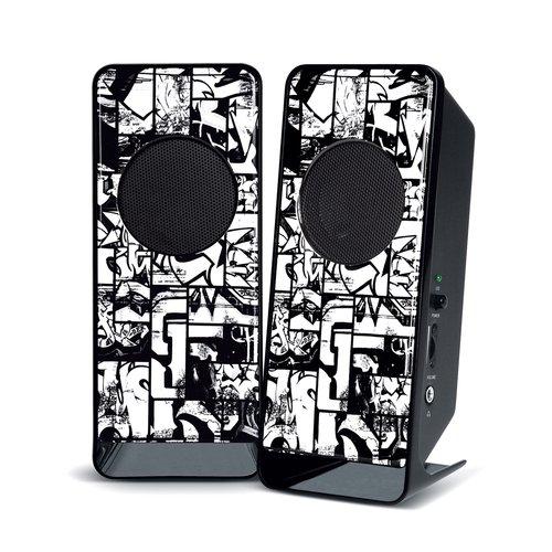 Merkury Amplified Stereo Speakers, Comic Giraffe