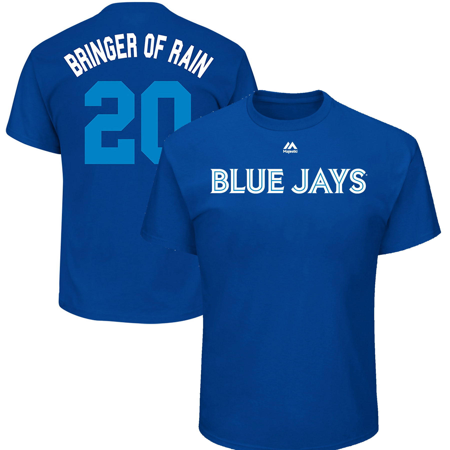 "Josh Donaldson ""Bringer of Rain"" Toronto Blue Jays Majestic Youth 2017 Players Weekend Name & Number T-Shirt - Royal"