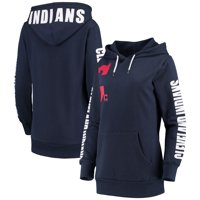 Cleveland Indians G-III 4Her by Carl Banks Women's 12th Inning Pullover Hoodie - Navy