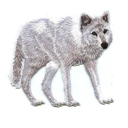 Arctic Applique - White Wolf - Arctic - Iron On Applique/Embroidered Patch