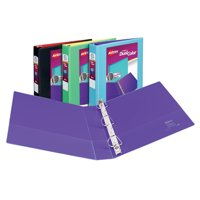 """Avery 1-1/2"""" Dual Color Durable View Binder, Slant Rings, Assorted Colors, 400 Sheets"""