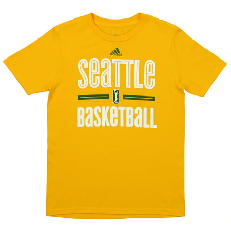 - Adidas WNBA Youth Seattle Storm Short Sleeve Graphic Tee