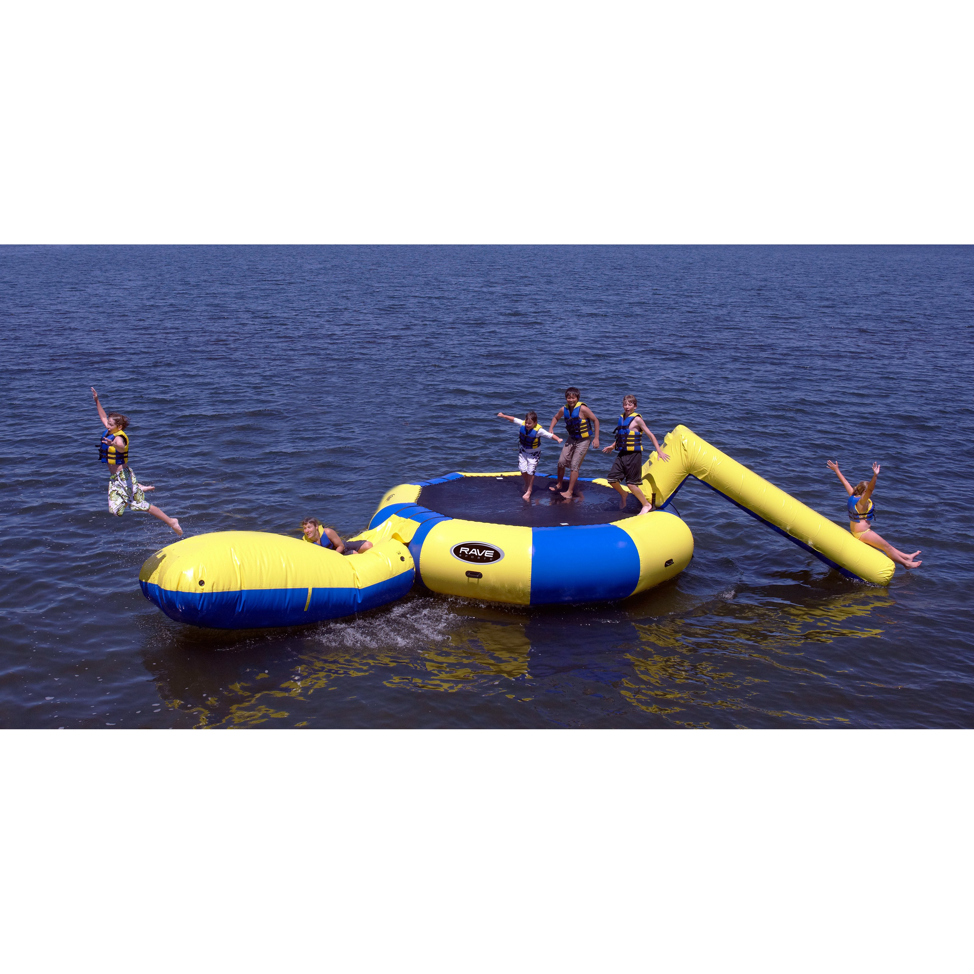 Rave Sports Bongo 20 ft. Water Trampoline with Slide and Launch by Rave Sports