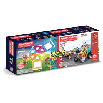 Magformers Neon 30-Piece and Transform 17-Piece Wheel Set