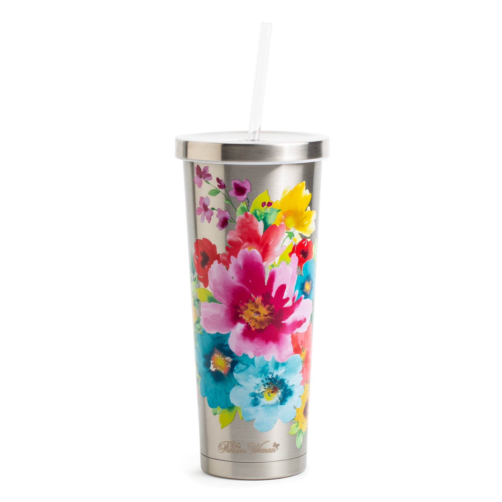 a9b16c58149 The Pioneer Woman 24 Ounce Stainless Steel Breezy Tumbler – Walmart ...