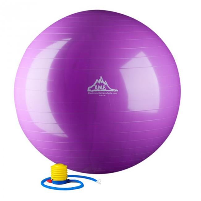 Black Mountain Products 75cm Purple Gym Ball 75 cm.  Static Strength Exercise Stability Ball, Purple