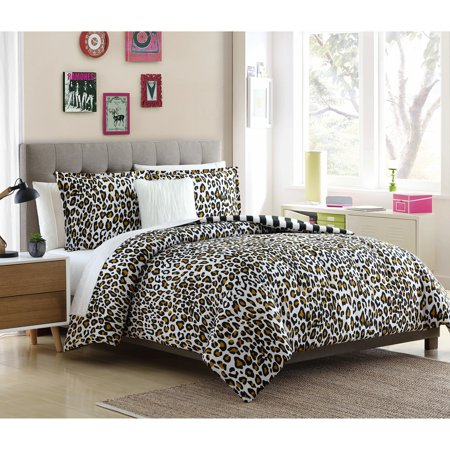 Lemon & Spice  Nala Leopard Reversible 3 & 4 Piece Comforter Mini Set