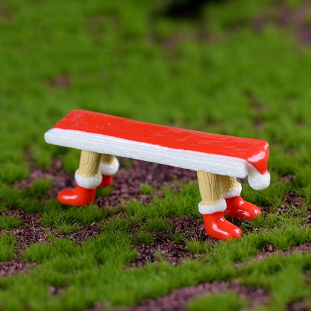 Holiday Clearance 21x60mm Mini Long Bench Style Miniature Christmas Decoration Micro Landscape DIY Craft Ornament - Diy Paper Christmas Decorations