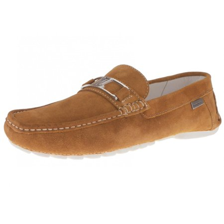 LN LUCIANO NATAZZI Mens Air Grant Penny Suede Leather Shoes Original Slip-On Driving Loafer (Air Force 1 Penny Hardaway For Sale)