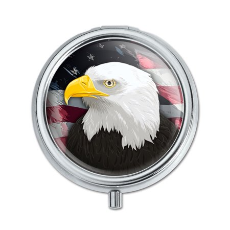 - American Bald Eagle Flag USA Patriotic Pill Box