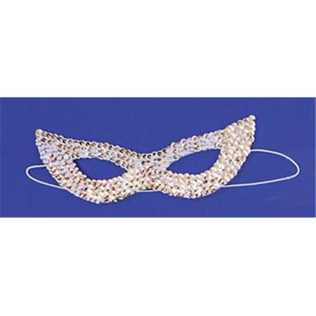 Costumes For All Occasions Ti16Sv Cat Mask Sequin Silver - The Town Masks For Sale