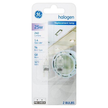 Ge 25W 240 Lumens Halogen Replacement Lamp Bulbs  2 Count