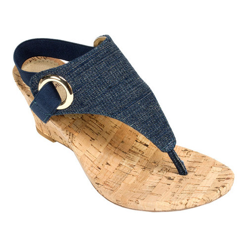 Women's White Mountain Aida Thong Wedge Sandal