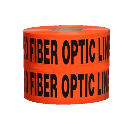 Non-Detectable Underground Tape - Caution Buried Fiber Optic Line Below - 6 in x 1000 ft Roll 4