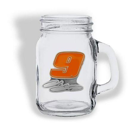 Chase Elliott Mason Jar Driver Shot Glass - No (Change Glasses)