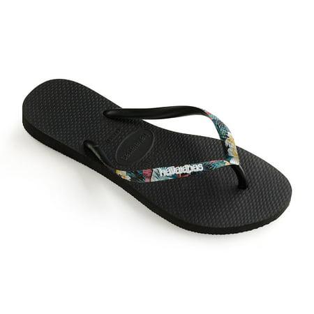 23372c7346f9d Havaianas - Havaianas Slim Tropical Straps Womens Sandal - Walmart.com