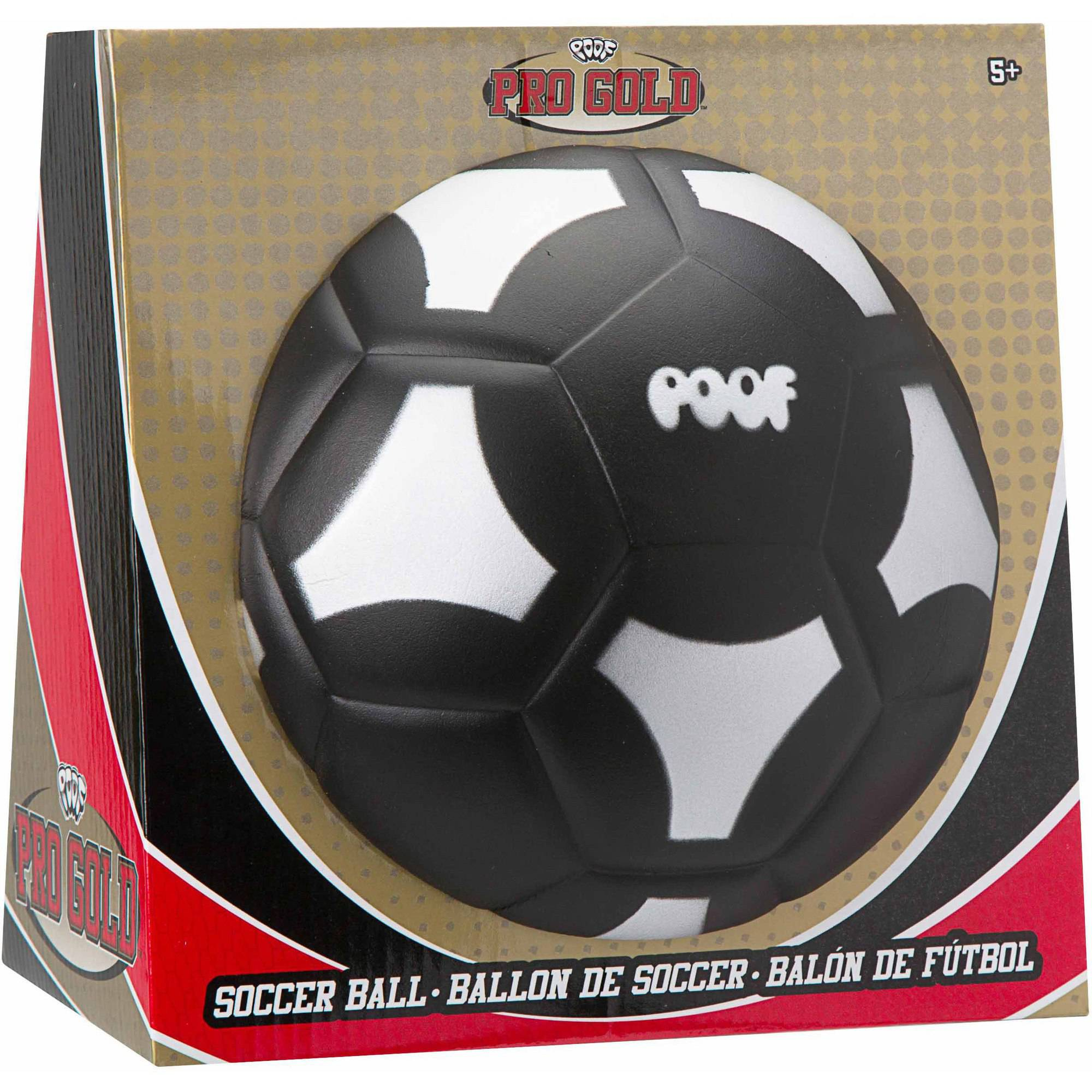 POOF Pro Gold Black Soccer Ball by Alex Brands
