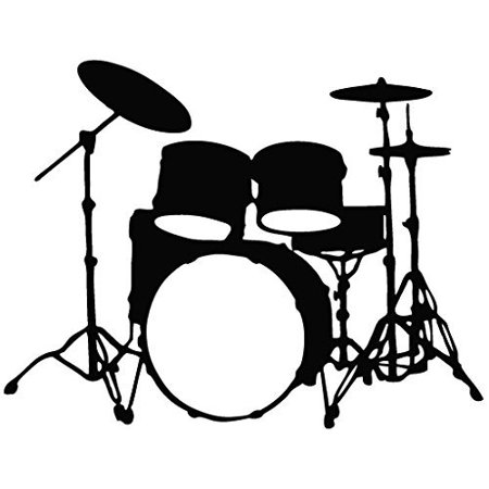 Drum Set - Tribal Decal Vinyl Car Wall Laptop Cellphone Sticker, Made and Shipped in the USA By Leon Online Box (Tribal Cat)