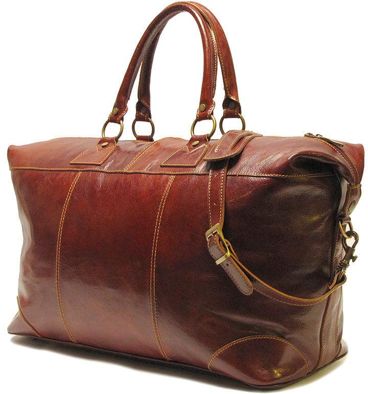 "FLOTO Capri Italian Leather 22"" Duffle Bag"