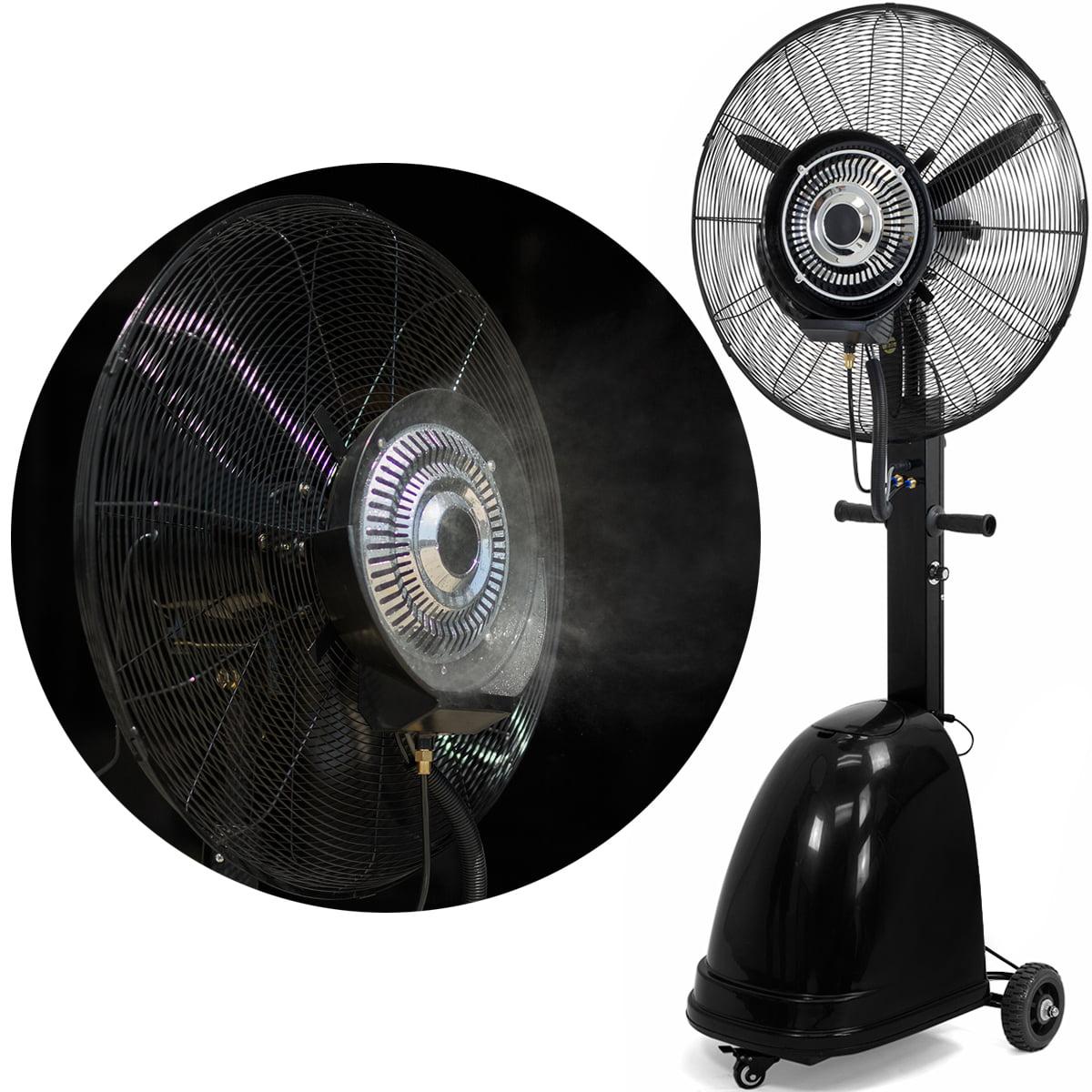 Patio Porch Oscillating Metal Cooling Outdoor Misting Fan Standing Floor 18 in