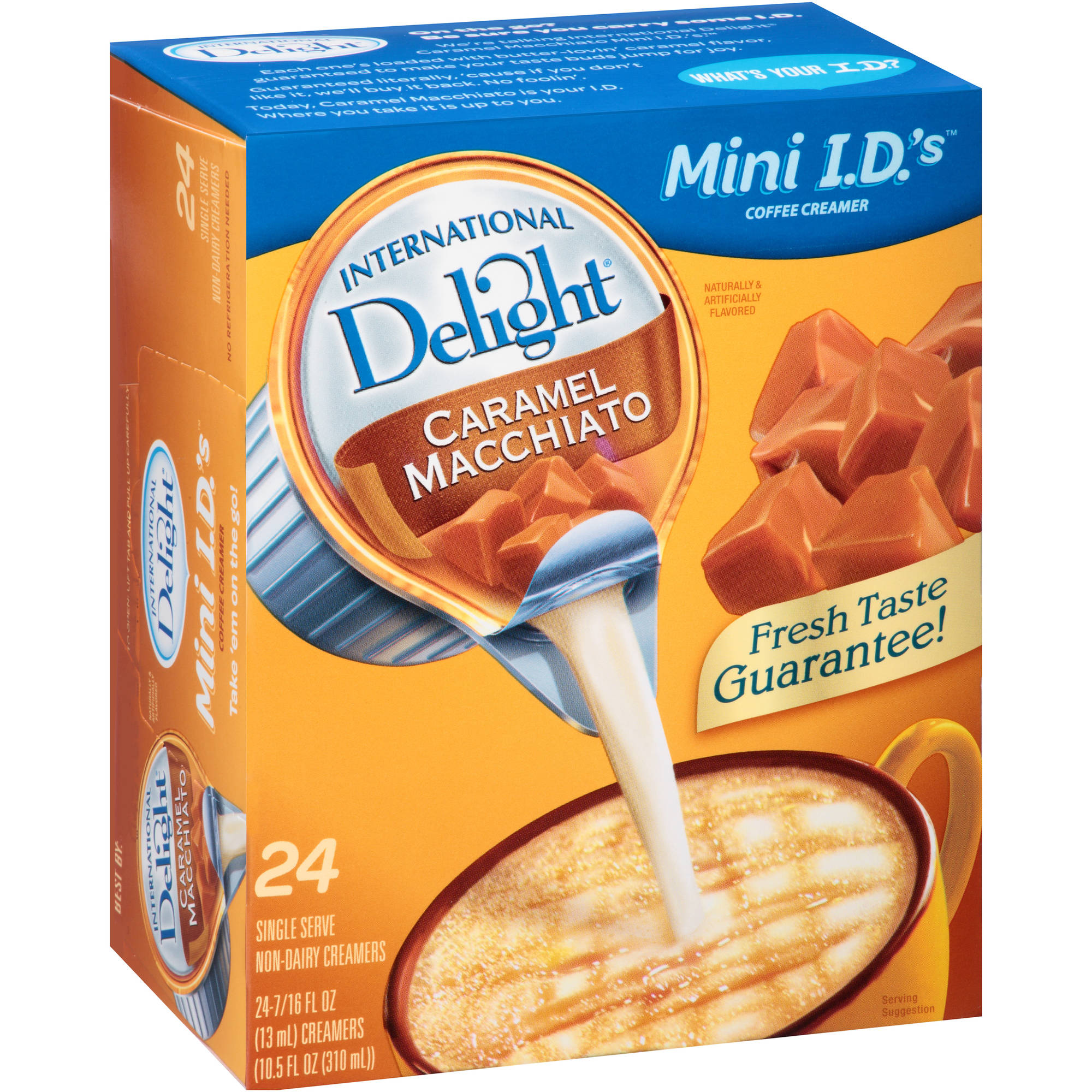 International Delight Mini I.D.'s Caramel Macchiato Non-Dairy Coffee Creamer, 0.44 fl oz, 24 count