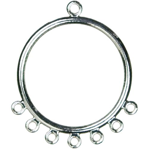 Jewelry Basics Ear Hoop W/Loops 8/Pkg-Silver
