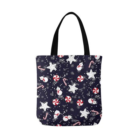 ASHLEIGH Christmas Toys and Sweets Christmas Theme Washable Canvas Tote Bag Resuable Grocery Bags Shopping Bags Canvas Tote Bag Perfect for Crafting Decorating](Cubicle Christmas Decorating Themes)