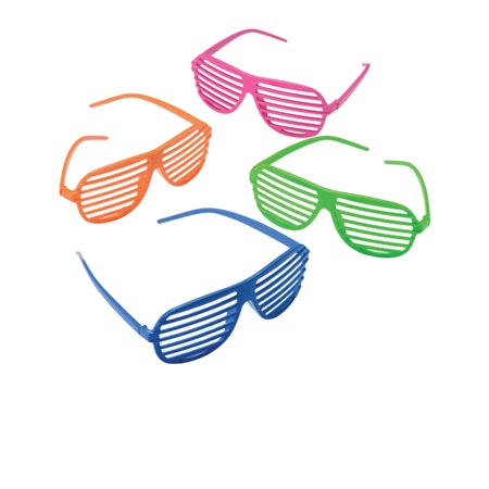 80's Shutter Shade Toy Novelty Sunglasses Party Favors 12 Pack Costume - Party Sunglasses