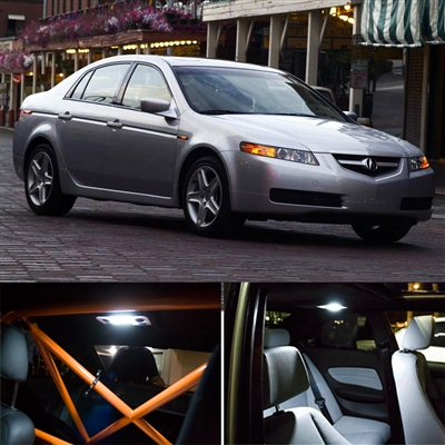 7 Pieces Acura TL Interior Package LED Lights Kit 6000K SMD WHITE 2004 2008