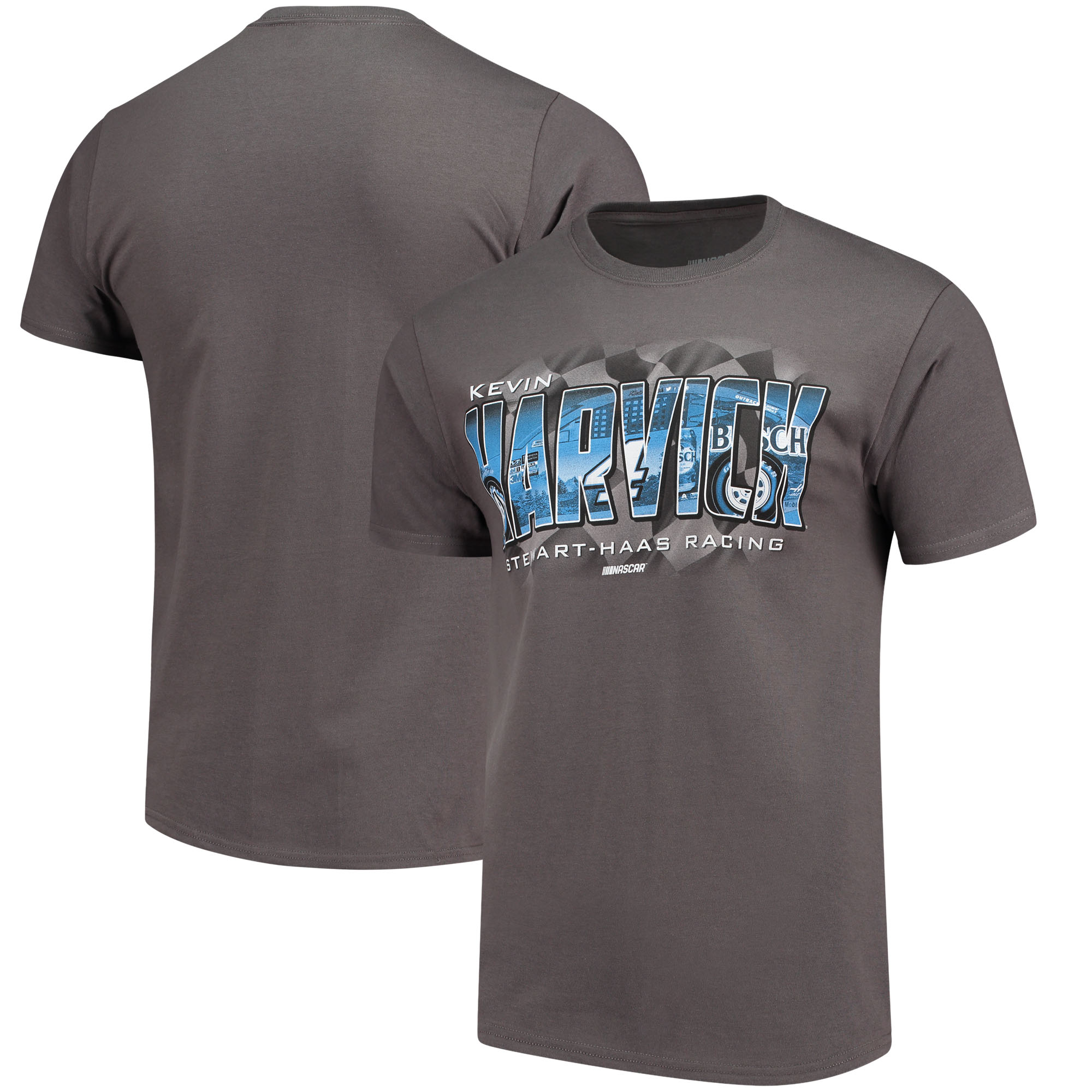 Kevin Harvick Checkered Flag Weekend Warrior T-Shirt - Charcoal