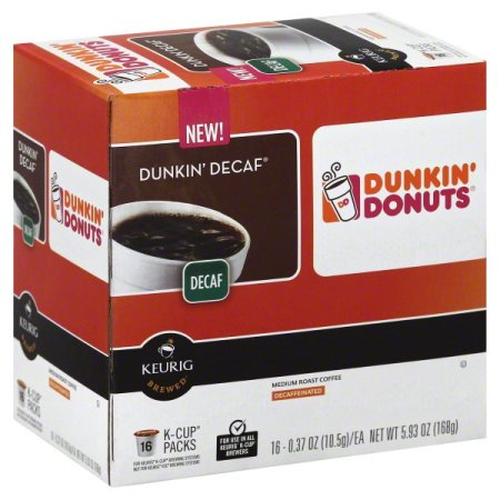 (4 Pack) Dunkin' Donuts Decaf K-Cup Pods for Keurig K-Cup Brewers, Medium Roast Coffee,