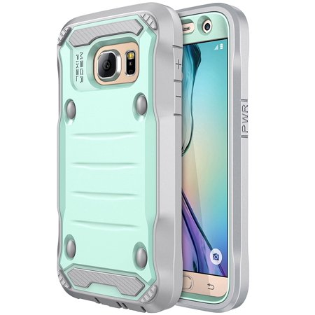 Galaxy S7 Case,{Not For S7 Edge } E LV Samsung Galaxy S7 Hybrid Armor Protection Defender Case Cover with Built-in Screen Protector For Samsung Galaxy S7 - [MINT / (Best Samsung Galaxy S7 Accessories)