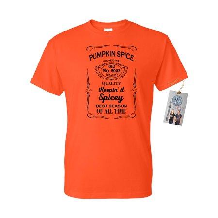 Pumpkin Spice Shirt Best Season Mens Womens Short Sleeve
