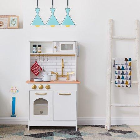Teamson Kids Little Chef Boston Modern Play Kitchen - White / Wood