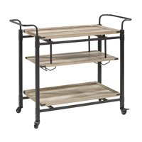 Deals on Better Homes & Gardens Crossmill Bar Cart Weathered Finish
