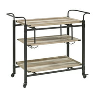 Walmart.com deals on Better Homes & Gardens Crossmill Bar Cart Weathered Finish
