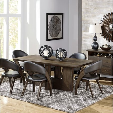 Corrigan Studio Samira Solid Wood Dining Table Walmart Com