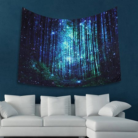 80*59inch Forest Animal Tapestries Wall Hanging Tapestry Hippie Bedspread Dorm Room Decor Beach Towel Mat (Hippie Decor Stores)