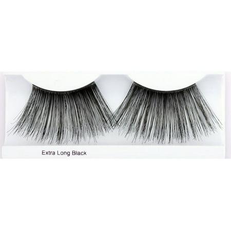 Extra Long Eyelashes (Glamour Eyez Eyelashes - Extra Long - Black)