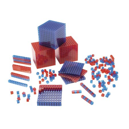 SI Manufacturing Clearview Base Ten Blocks, Starter Set