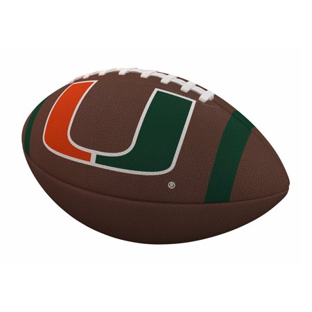 Miami Hurricanes Team Stripe Official-Size Composite Football](Univ Of Miami Football)