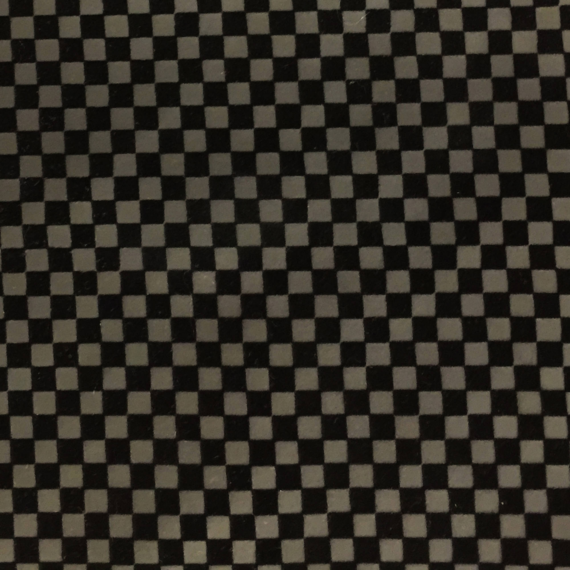 SHASON TEXTILE FAUX LEATHER CHECKERS PRINT UPHOLSTERY FABRIC, BLACK