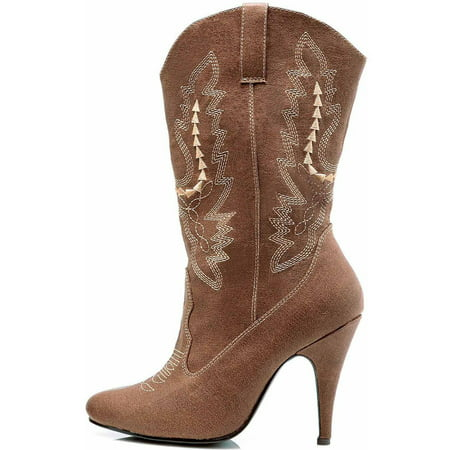 Cowgirl Brown Boots Women's Adult Halloween Costume Accessory](Light Up Cowgirl Boots)