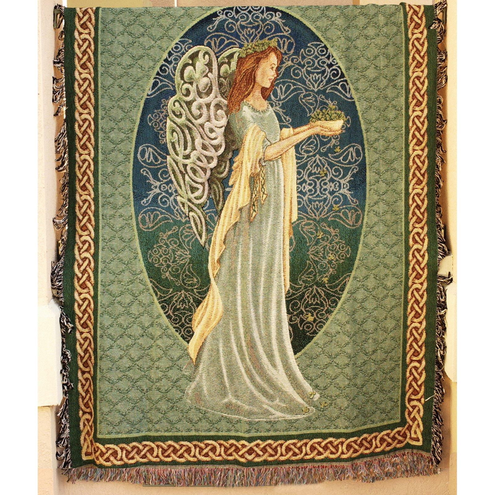 Manual Irish Angel Tapestry Throw