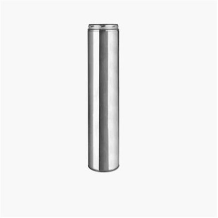 12 Inch Chimney - SELKIRK CORP Sure-Temp 8-Inch x 48-Inch Stainless Steel Double Wall Insulated Chimney Pipe 208148