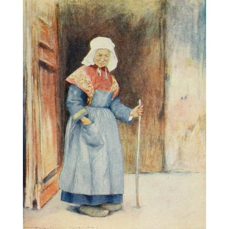 Brittany 1912 Quimper the cathedral porch Canvas Art - Mortimer Menpes (18 x 24)