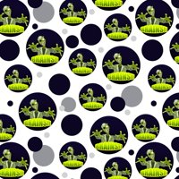 Cartoon Zombie Reach Undead Brains Premium Gift Wrap Wrapping Paper Roll Pattern